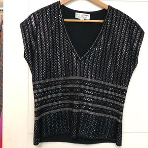 ST. JOHN/Size 10/NWOT/Black/Knit/